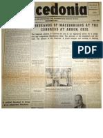 """1950's Newspaper """"Macedonia"""""""