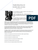 Franklin Delano Roosvelt - Discurs