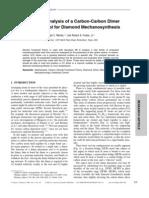 Ralph C. Merkle and Robert A. Freitas, Jr- Theoretical Analysis of a Carbon-Carbon Dimer Placement Tool for Diamond Mechanosynthesis