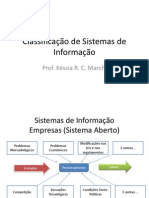 Classificacao de Sistemas de Informacao II