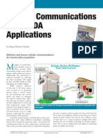 Cellular Communications for Scad a Applications