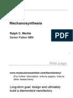 Ralph C. Merkle- Mechanosynthesis