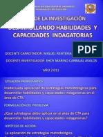 PRESENTACIÓN PRELIMINAR DEL INFORME DE INVESTIGACIÓN ACCIÓN