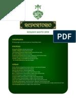 Repertorio A.M. Los Afligidos 2009