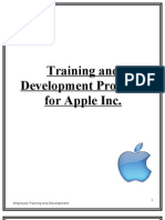 Training and Development Program for Apple Inc