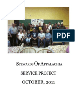 Stewards of Appalachia Service Project October, 2011