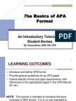 The Basics of APA Format