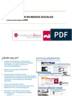 Comunicacion en Medios Sociales Jaime Vera Oct 2011