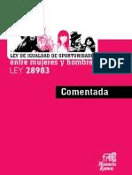 Ley 28983 Ley Igualdad des Mujeres & Hombres Comentada