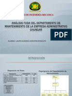Analisis FODA de La Empresa Administrativo Chungar