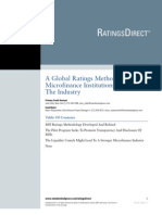 A Global Ratings Methodology for MF 11-6-08