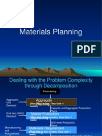 Materials Planning - Forecasting