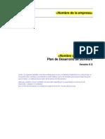 Plantilla de Plan de Desarrollo Software