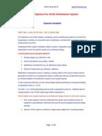 M147 Design Options for HVAC Distribution System