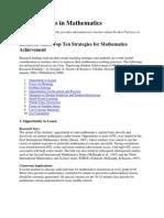 Best Practices in Mathematics