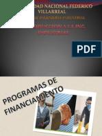 PROGRAMAS DE FINACIAMIENTO