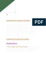 DEFINICION DE CONCENTRACION