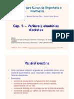 Cap 5 - Variáveis aleatórias discretas