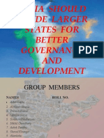 India Should Divide Larger States for Better Governance