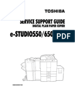 Toshiba E-studio 550 Service Support Guide