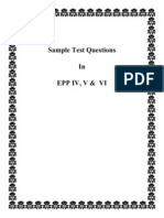 Front Page Sample Test Questions