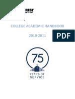College Academic Handbook