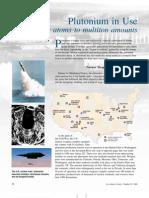 Plutonium in Use