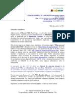 Carta presentación de la Alianza