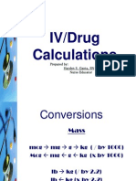 Drug and IV Calculations