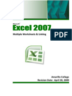 Excel 2007 Multiple Worksheets Linking