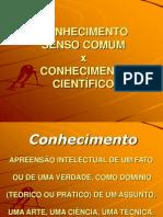 SENSO COMUM E CIENTÍFICO - slide
