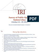 IRI - 2011 Dec 19_ Survey of Eastern Libya Public Opinion, October 12-25, 2011