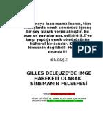 Sütçü, Özcan Yılmaz - Giles Deleuze'de İmge Hareketi Olarak Sinemanın Felsefesi