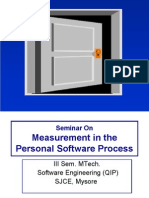 Measurement in the Personal Software Process1