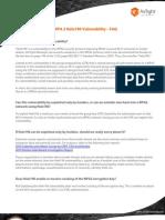 WPA2 Hole196 Vulnerability FAQs