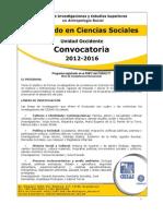 Convocatoria Doctorado en Ciencias Sociales