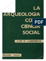 Lumbreras La Arqueologia Como Ciencia Social. Histar. 1974