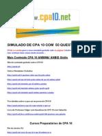 Simulado CPA10 Anbima Grátis