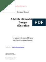 Danger Additifs, Gélatine, Glutamate Monosodique, Sulfites - C Gouget