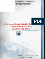 Informe Contraloria sobre Consejo de la Cultura y las Artes