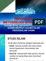 Pengantar  Metodologi Studi Islam