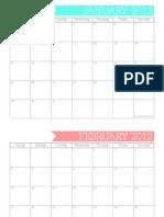 2012 Full Page Calendar - TomKat Studio