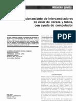 Dimensionamiento de intercambiadores de calor de coraza y tubos, con ayuda de computador