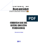Curriculo Base Del Sistema Educativo Plurinacional
