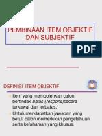 Nota Item Ujian Objektif Dan Subjektif