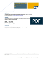 SAP Copy Workbook