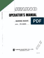 Furuno FR-1460DS Marine Radar Operators Manual