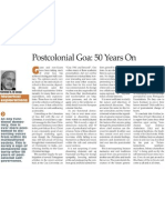 Post Colonial Goa - 50 Years On