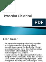 Elektrical instalation Procedur