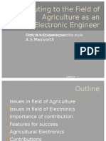 Contributing to the Field of Agriculture as An